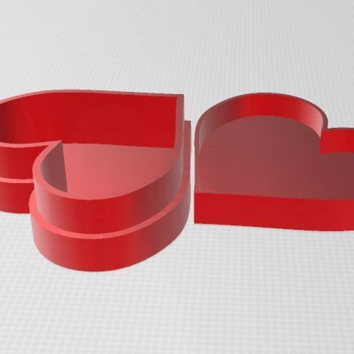 Download free 3D printer designs Heart box, ryad36