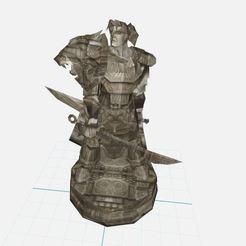 Descargar archivo 3D gratis Varian Wrynn ,WoW,Alianza,World of Warcraft, ryad36