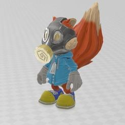 Download free OBJ file Mini Conker • Object to 3D print, ryad36