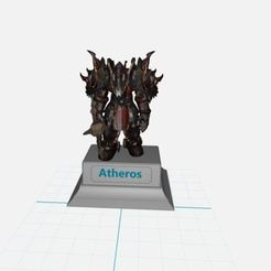 atheros.JPG Télécharger fichier STL gratuit war world of warcraft Guerrier ORC Horde wow • Plan pour imprimante 3D, ryad36