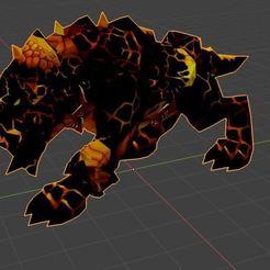Descargar modelo 3D gratis perro de magma World Of Warcraft ,Wow, ryad36