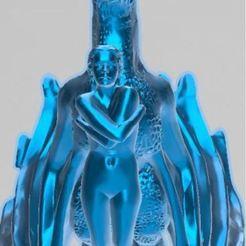 Télécharger fichier imprimante 3D gratuit l'amour du Dragon, Dragon, Femme, Amour, créature, Nature, jeux, ryad36