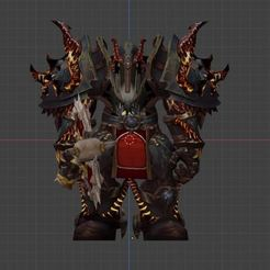 Download free 3D printing files wow,world of war craft,War,ORC Warrior Horde, ryad36