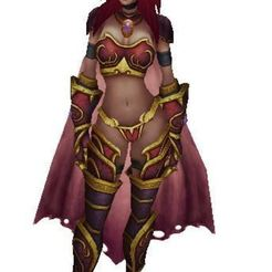 Download free 3D printing designs Alexstrasza, the Lieuse-of-Life, is a red dragon, world of warcraft, ryad36