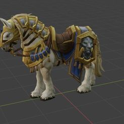Télécharger fichier OBJ gratuit cheval de Guerre Alliance,WOW, World of warcraft • Plan à imprimer en 3D, ryad36