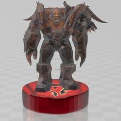 Impresiones 3D gratis Garrosh Boss WOW ,World Of Warcraft, ryad36