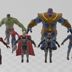 Download free 3D printer designs Avengers infinity war, ryad36