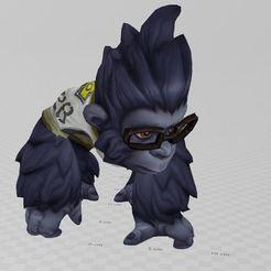 Imprimir en 3D gratis Mono de gran tamaño, ryad36