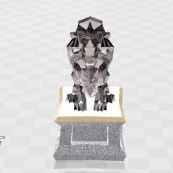 Télécharger fichier OBJ gratuit lion • Modèle imprimable en 3D, ryad36