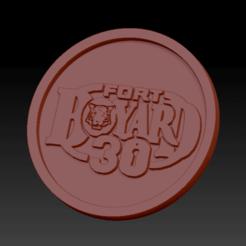 Fort boyard 30.png Download free STL file Medaillon Fort Boyard 30 years • 3D printing template, edbo
