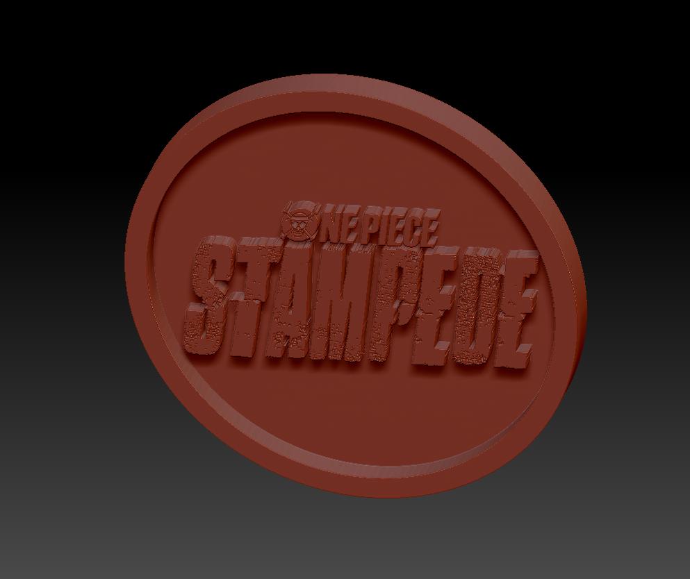 One piece Stempede02.png Download free STL file Medaillon One Piece Stampede • 3D printable design, edbo