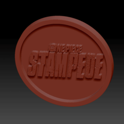 One piece Stempede02.png Download free STL file Medaillon One Piece Stampede • 3D printable design, edbo