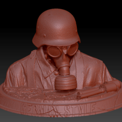 German style 2.1.png Download free STL file Masked German Soldier • 3D print design, edbo