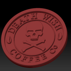 Death wish coffee02.png Download free STL file Medaillon Death Wish Coffee • Template to 3D print, edbo