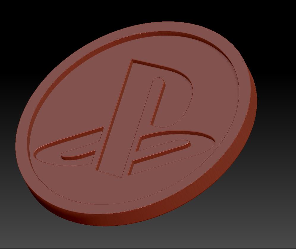 Playstation.png Télécharger fichier STL gratuit Medaillon Playstation • Objet pour imprimante 3D, edbo