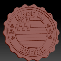 Made in breizh01.png Download STL file Medaillon Made In Breizh • 3D printable model, edbo