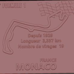 Circuit Monaco 01.png Download STL file Monaco Formula 1 Circuit Plate • 3D printable template, edbo