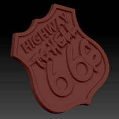 Highway to hell 666.png Télécharger fichier STL Highway to hell 666 • Plan à imprimer en 3D, edbo