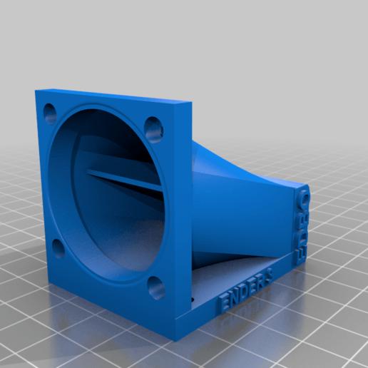 Télécharger plan imprimante 3D gatuit Conduit ventil Creality Ender 3 / CR10 pour ventilateur 40x40, edbo