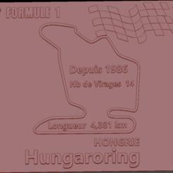 Circuit Hungaroring 01.png Download STL file Hungaroring Formula 1 Circuit Plate • Model to 3D print, edbo