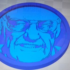 Download free 3D printing designs Medallion Stan Lee, edbo