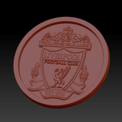 Download free STL file Medaillon Liverpool FC • Template to 3D print, edbo