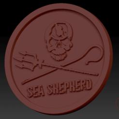 Sea shepherd03.png Download free STL file Medallion Sea Shepherd • 3D printer model, edbo