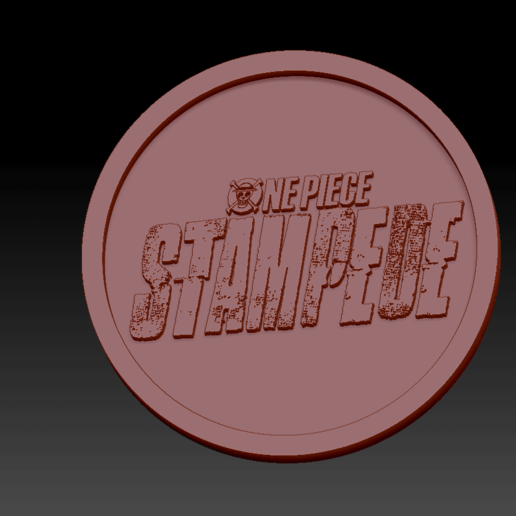 One piece Stempede01.png Download free STL file Medaillon One Piece Stampede • 3D printable design, edbo