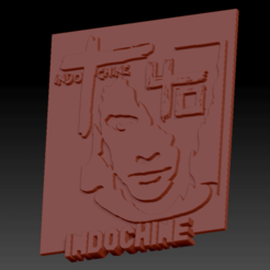 Indochine carré.png Download STL file Indochina 40 years old • 3D printing template, edbo