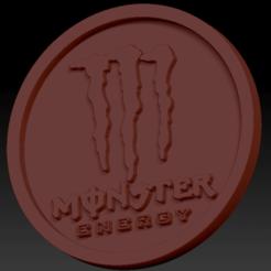 Monster energy 03.png Download free STL file Medaillon Monster Energy • 3D printable model, edbo