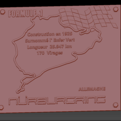 Circuit Nurbergring  01.png Download STL file Nurburgring Formula 1 Circuit Board • 3D printing design, edbo