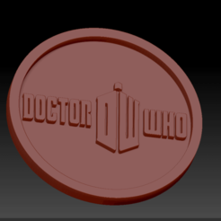Dr Who 01.png Download STL file Doctor Who Medallions • 3D printing object, edbo