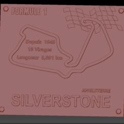 Silverstone 2 01.png Download STL file Silverstone Formula 1 Circuit Board • 3D printer object, edbo