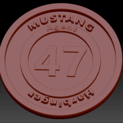 Harbinger02.png Download free STL file Medallion Mustang Harbinger • 3D print template, edbo