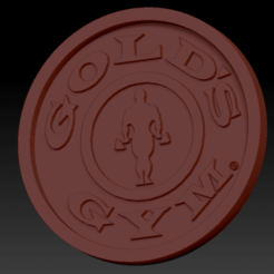Gold gym03.png Download free STL file Medaillon Gold Gym • 3D printing template, edbo