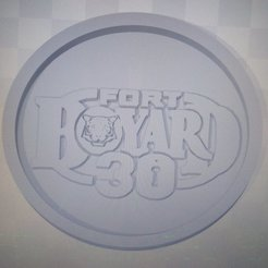 Download free 3D printing templates Medaillon Fort Boyard 30 years, edbo