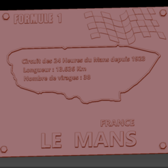 Circuit Le Mans2 01.png Download STL file Le Mans Formula 1 Circuit Plate • 3D printer object, edbo