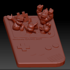 Gameboy full nintendo 01.png Download STL file Gameboy and his Heroes • Design to 3D print, edbo