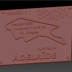 Circuit Adelaide 2 01.png Download STL file Adelaide Formula 1 Circuit Plate • 3D print design, edbo