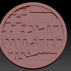 Breizh2 01.png Download free STL file Medallion Breizh 2 • 3D printable model, edbo