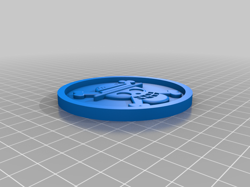 Medaillon_One_piece.png Download free STL file Medaillon One piece • Design to 3D print, edbo
