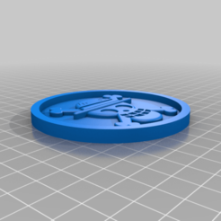 Download free 3D printer templates Medaillon One piece, edbo