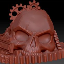 Skull engrenage hd 01.png Télécharger fichier STL Skull engrenage Harley Davidson • Design pour impression 3D, edbo