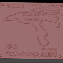 Circuit SPA 2 01.png Download STL file Spa Spa Francorchamps Formula 1 Circuit Plate • 3D printing design, edbo