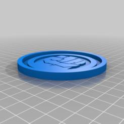 Télécharger fichier imprimante 3D gratuit Medaillon Hulk, edbo