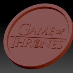 Game of thrones.png Download free STL file Medaillon Game of thrones • 3D print object, edbo