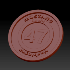 Harbinger.png Download free STL file Medaillon Mustang Harbinger • 3D print template, edbo
