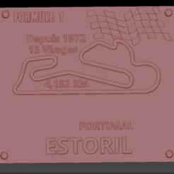 Circuit Estoril 2 01.png Download STL file Estoril Formula 1 Circuit Board • 3D printing template, edbo