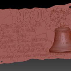 Plaque HB 01.png Télécharger fichier STL Plaque ACDC Hell's Bells • Design pour impression 3D, edbo