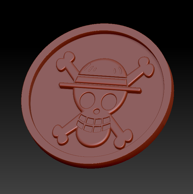 One piece.png Download free STL file Medaillon One piece • Design to 3D print, edbo